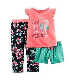 Carter's® Girls' 3-Piece Sea You In The Morning Pajama Set