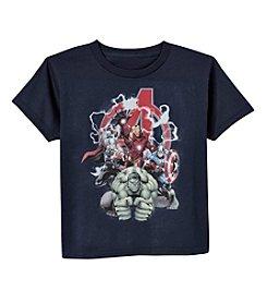 Marvel® Boys' 2T-7 Short Sleeve Lightning Avengers™ Printed Tee