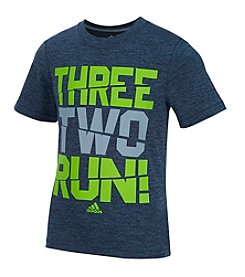 adidas® Boys' 2T-7 Short Sleeve Three, Two, Run! Tee