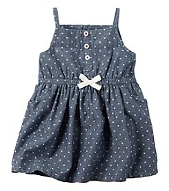 Carter's® Baby Girls' Chambray Star Printed Dress