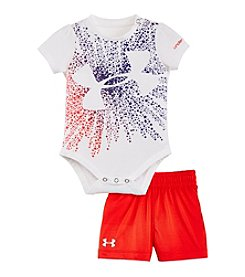 Under Armour® Baby Girls' Starburst Logo Bodysuit And Shorts Set