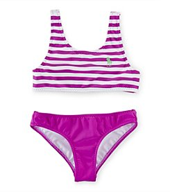 Polo Ralph Lauren® Girls' 2T-6X 2-Piece Striped Swimsuit