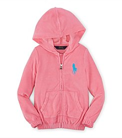 Polo Ralph Lauren® Girls' 2T-6X Solid Terry Zip Hoodie