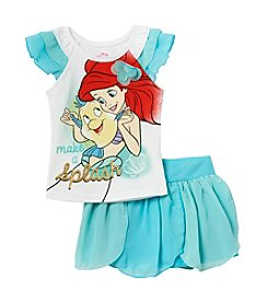 Disney Princess® Girls' 2T-6X Make a Splash Ariel Printed Top and Scooter Set