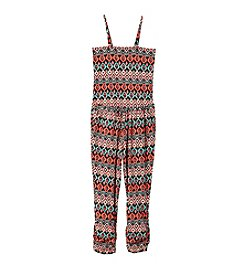 Squeeze® Girls' 7-16 3 In 1 Printed Knit Jumpsuit