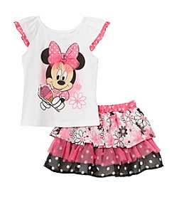 Disney® Girls' 2T-6X Ice Cream for Minnie Mouse® Printed Top and Scooter Set