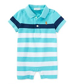 Ralph Lauren® Baby Boys One-Piece Striped Shortall