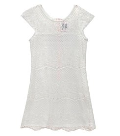 Rare Editions® Girls' 7-16 Floral Lace Cap Sleeve Dress