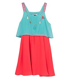 Rare Editions® Girls' 7-16 Colorblock Popover Dress
