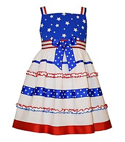 Bonnie Jean Girls' 2T-6X Stars And Stripes Seersucker Dress