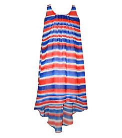 Bonnie Jean® Girls' 7-16 Watercolor Striped Lace A-Line Dress