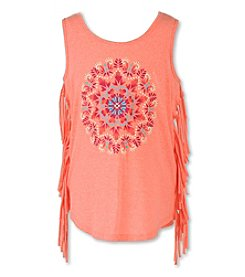 Speechless® Girls' 7-16 Tank With Side Fringe
