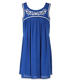 Speechless® Girls' 7-16 A-Line Gauze Embroidered Dress