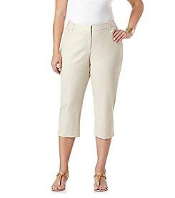 Rafaella® Plus Size Double Weave Capri Pants