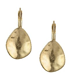 The Sak® Goldtone Metal Scoop Drop Earrings