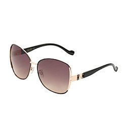 Jessica Simpson Oval Metal Glam Sunglasses