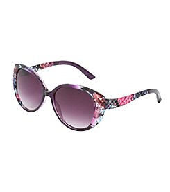 Jessica Simpson Plastic Textured Cat Eye Sunglasses