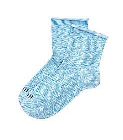 HUE® Roll Top Shortie Socks