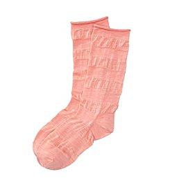 HUE® Slub Stripe Slouch Socks