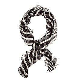 Lauren Ralph Lauren® Livia Stripe Double Ruffle Oblong Scarf