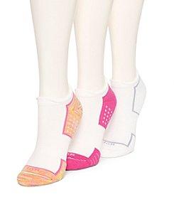 HUE® Air Cushion 3-Pack No Show 3D Sole Socks