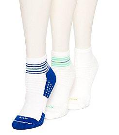 HUE® Air Cushion 3-Pack Quarter Top 3D Sole Socks