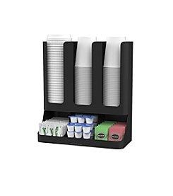 Mind Reader Flume 6 Compartment Upright Coffee Organizer