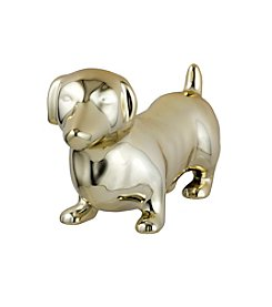 Prinz® Ceramic Dachshund in Gold