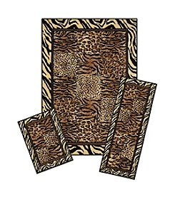 Achim Safari Capri 3-pc. Rug Set