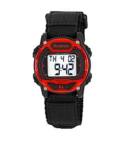Armitron Sport Black and Red Chronograph Digital Watch