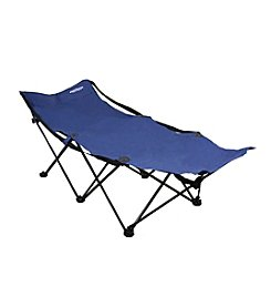 Ore International Portable Folding Camping Blue Cot