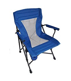 Ore International Portable Folding Blue Chair