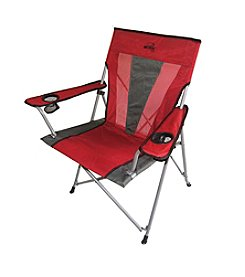 Ore International Portable Folding Red Chair