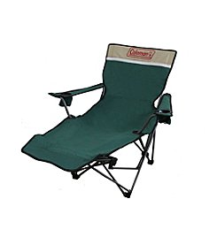 Ore International Portable Lounge Reclining Green Chair