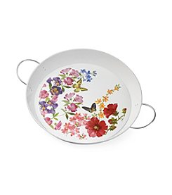 LivingQuarters Botanical Collection Multi Floral Tray