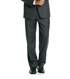 Lauren Ralph Lauren Charcoal Solid Flat Front Pant