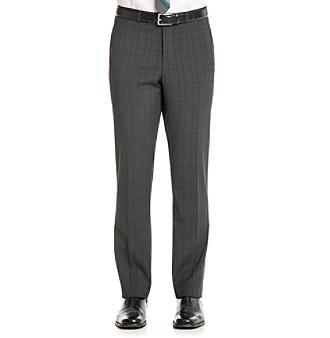 Nick Graham® Men's Black Plaid Suit Separate Pants