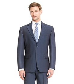 John Bartlett Statements Men's Blue Pindot Suit Separates Jacket