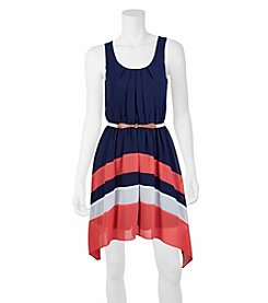 A. Byer Pleated Colorblock Dress