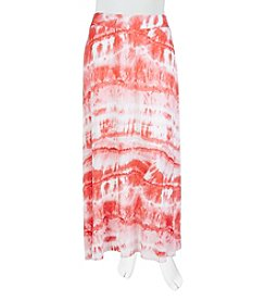 A. Byer Plus Size Tie Dye Knit Maxi Skirt