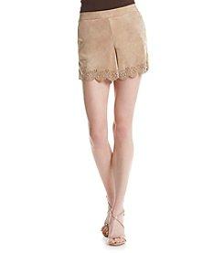 Kensie® Faux Suede Shorts