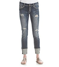 Crave Fame® Destructed Cropped Jeans