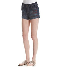 Hippie Laundry Destructed Patched Jean Shorts