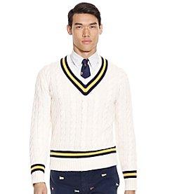 Polo Ralph Lauren® Men's Cashmere Long Sleeve Cricket Sweater