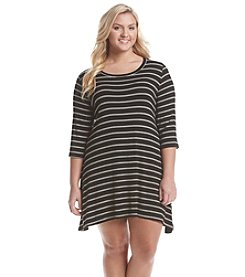 Living Doll® Plus Size Striped Swing Dress
