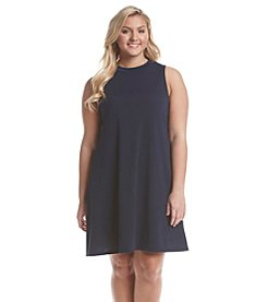 Living Doll® Plus Size Mock Neck Swing Dress