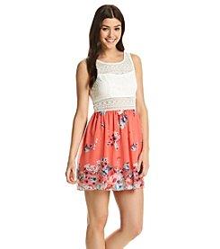 Trixxi® Floral Skater Dress
