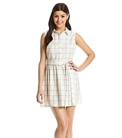 Bee Darlin' Plaid Shirt Dress