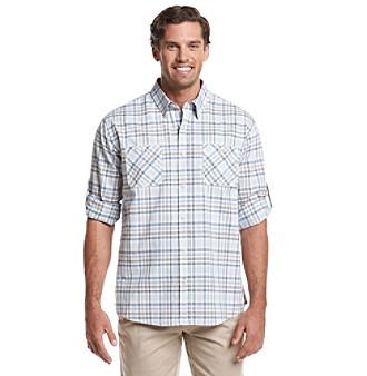 Weatherproof Vintage® Men's Long Sleeve Button Down Shirt plus size,  plus size fashion plus size appare