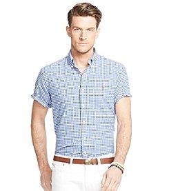 Polo Ralph Lauren® Men's Big & Tall Short-Sleeve Checked Oxford Button Down Shirt